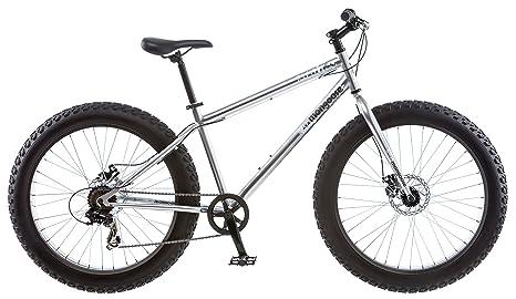 Amazon.com : Mongoose Men\'s Malus Fat Tire Bike, Silver : Sports ...