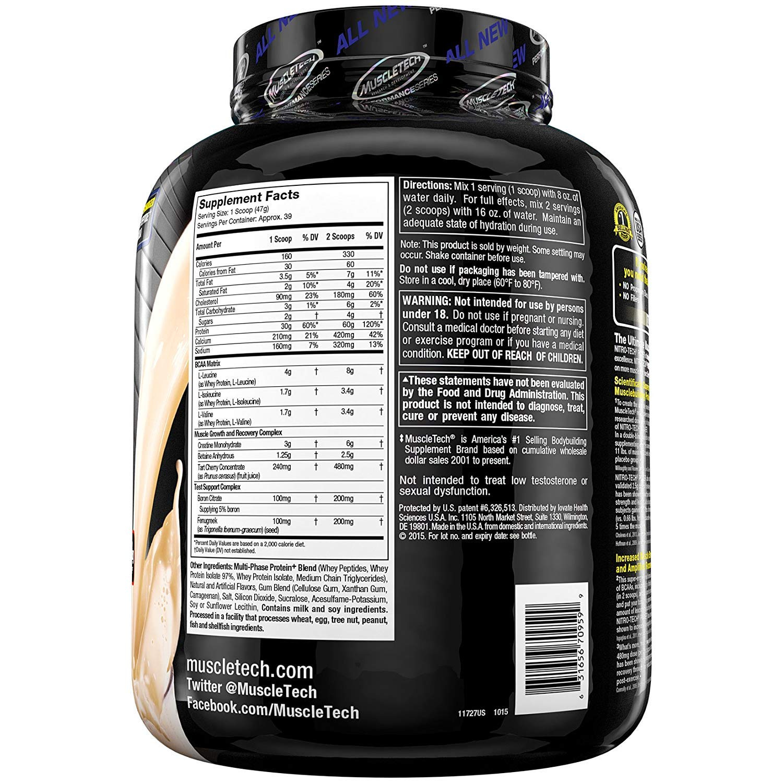 Muscletech Performance Series Nitro-Tech Power French Vanilla Swirl - 1833 gr: Amazon.es: Salud y cuidado personal