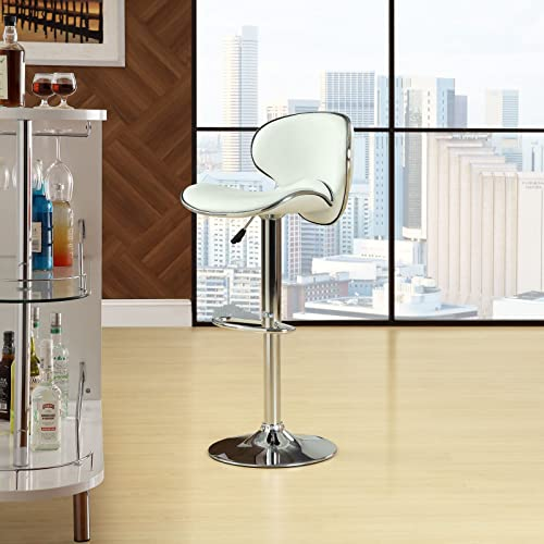 Modway Saddleback Bar Stool in White