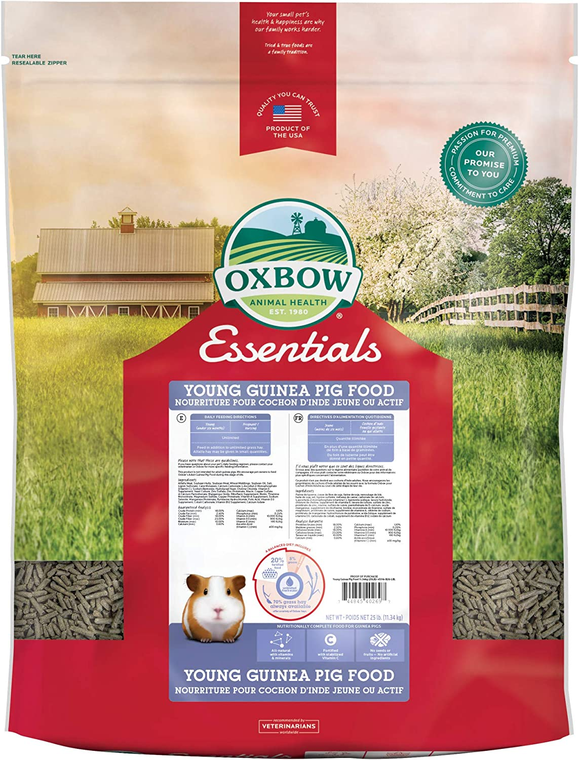 Oxbow Essentials Young Guinea Pig Food