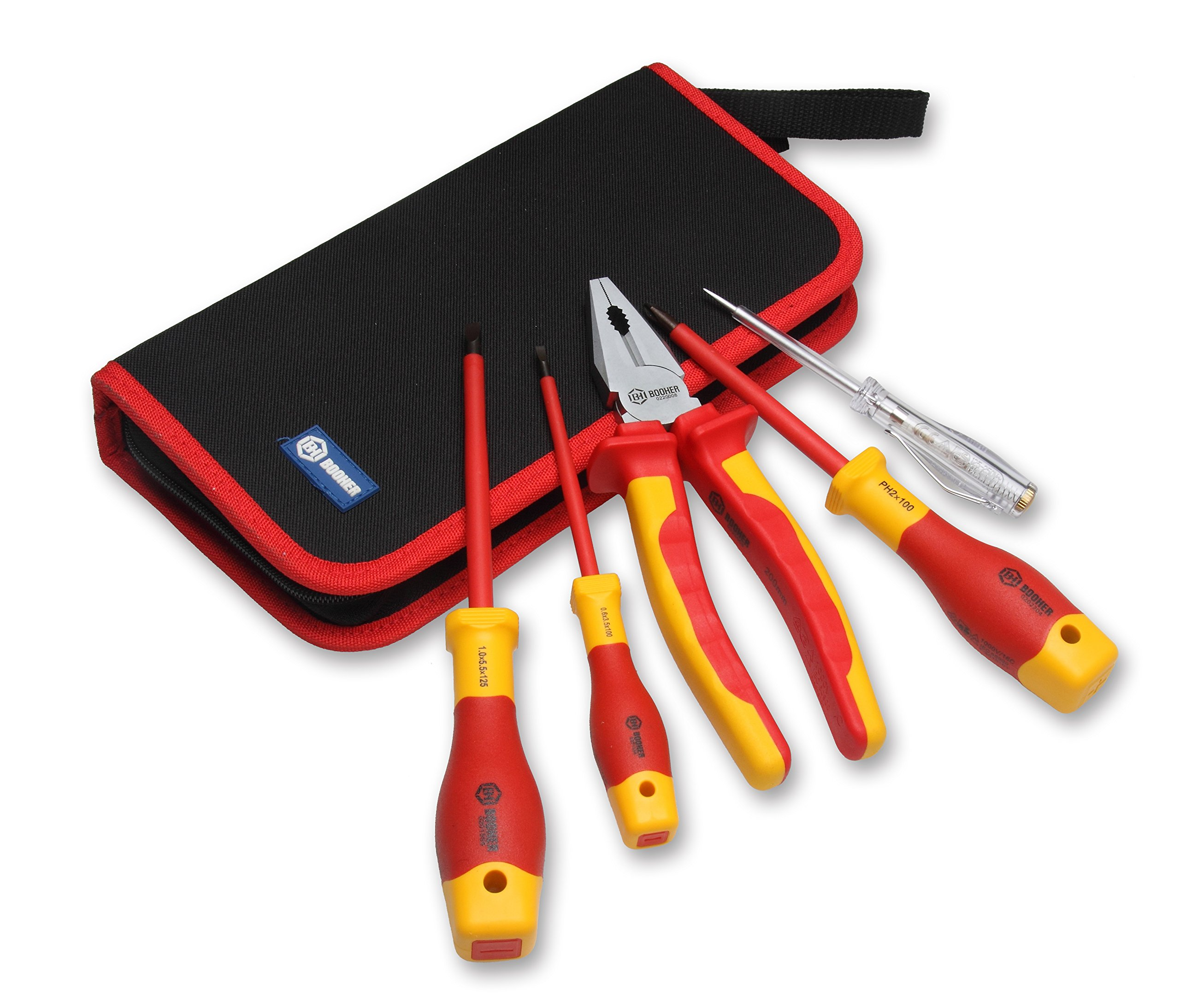 BOOHER 0200201 5-Piece 1000V Insulated Tools Set