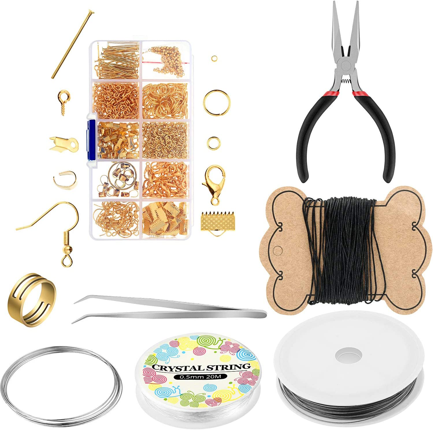 21 Pieces Faux Leather Sheets with Earring Making Kit Includes Litchi and Glitter Faux Leather Sheets Jumps Rings Earring Hooks and More Complete Tools for Earrings Making Supplies