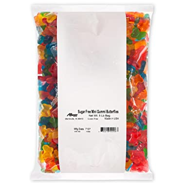 Albanese Candy, Sugar Free Mini Gummi Butterflies, 5 Pound Bag