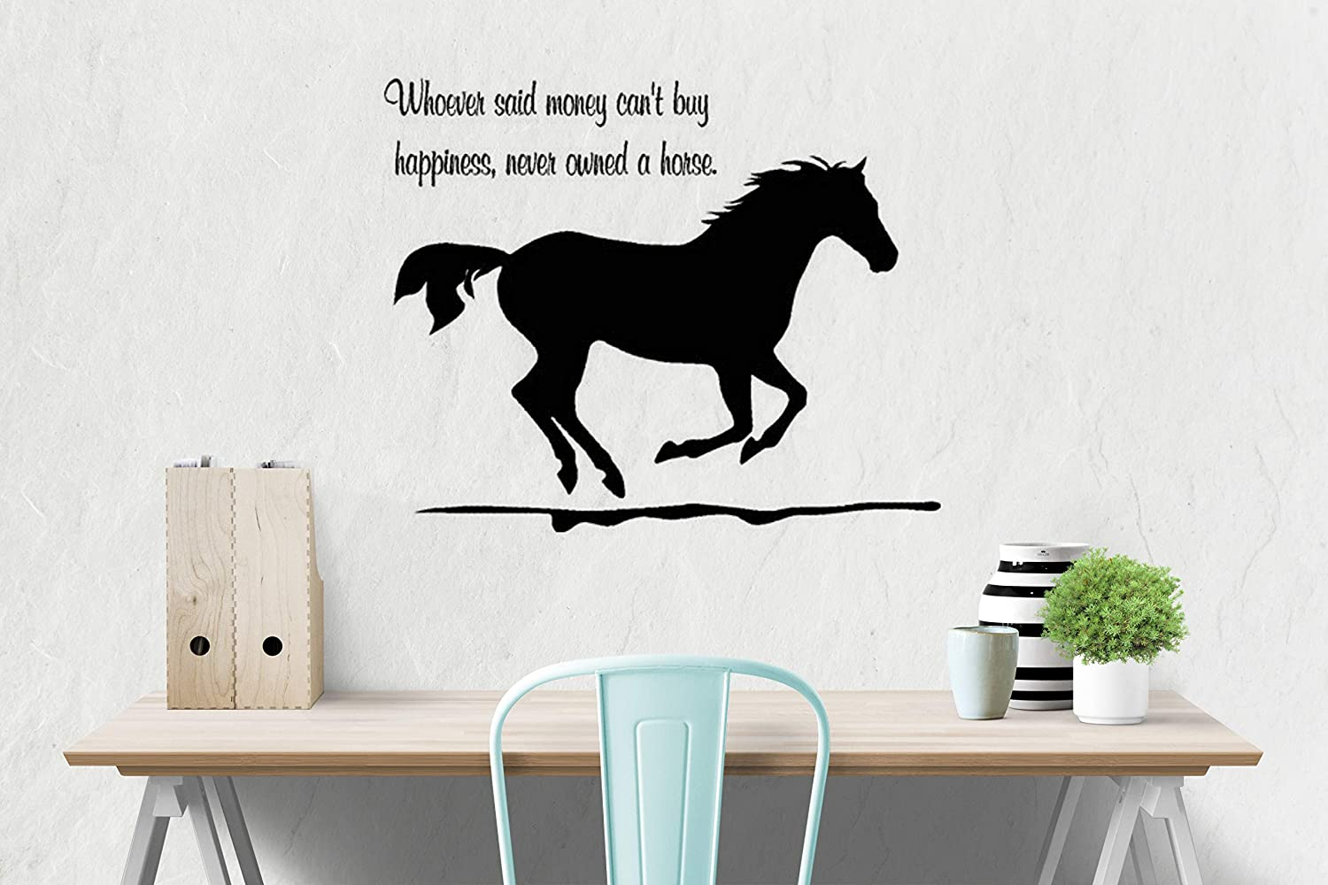 Horse wall decal, girls room quote decal, wall words decal, teen bedroom  decal, dorm room decor, 23 X 33 inches