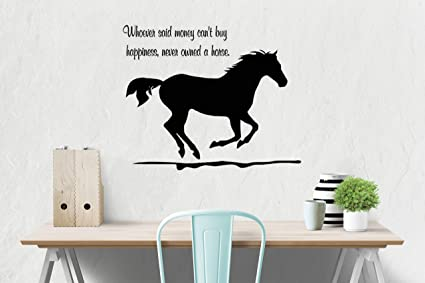 Horse Wall Decal, Girls Room Quote Decal, Wall Words Decal, Teen Bedroom  Decal