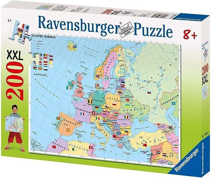 Ravensburger 12662 - Puzzle del mapa de Europa (200 piezas)[Version Alemana]: Amazon.es: Juguetes y juegos