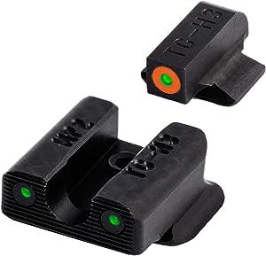 TRUGLO Tritium Pro Glow-in-The-Dark Handgun Night Sights for Smith & Wesson Pistol