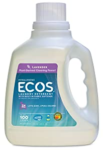 Earth Friendly Products Ecos Laundry Lavender, 100 Count