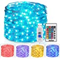 Homestarry USB Plug In String 16 Color Changing 33ft 100LEDs Fairy Lights