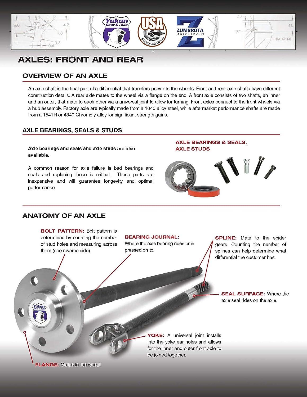 34-3//8 Long Axle for Ford Crown Victoria 28-Spline Differential ZA F880038 USA Standard Gear