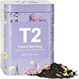 T2 Tea French Earl Grey Breakfast Black Tea, Loose Leaf Tea in Limited Edition Tin, 100g, 100 g