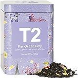 T2 Tea French Earl Grey Breakfast Black Tea, Loose Leaf Tea in Limited Edition Tin, 100g, 100 g