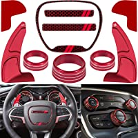 For Dodge Challenger Charger Durango 2015-2020 Interior Accessories Steering Wheel Shift Paddle Extended+Emblem Kit+Air…