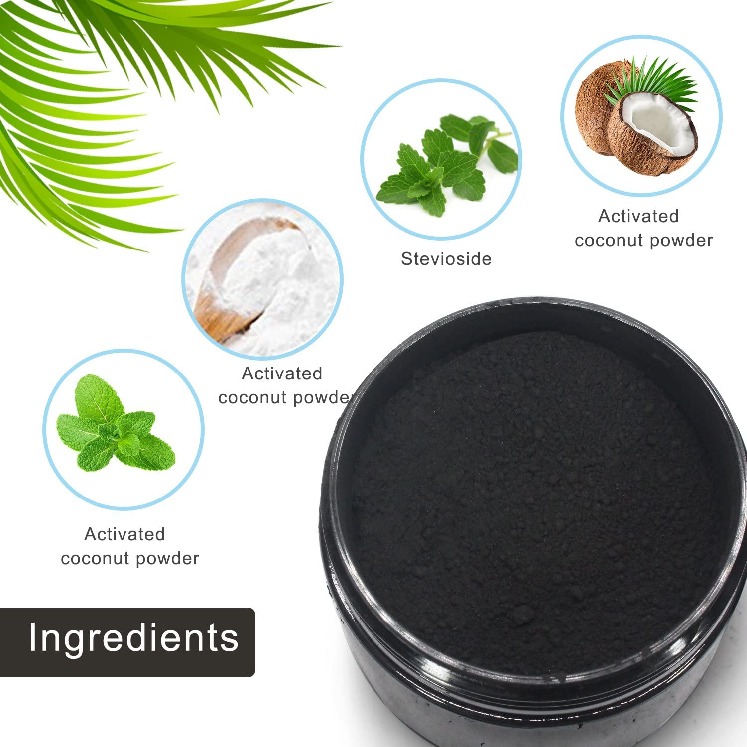 Charcoal Teeth Whitening Powder with Coconut Activated Charcoal ...