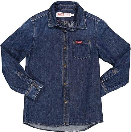 Rifle - Camisa vaquera para niño, color azul vaquero oscuro ...