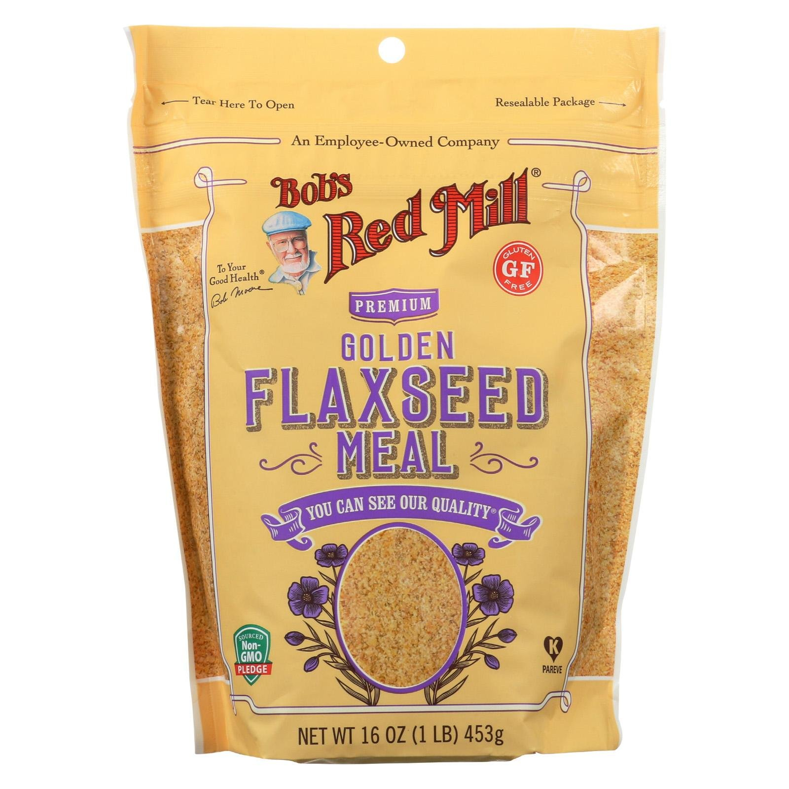 BOB'S RED MILL, Flaxseed Meal, Golden, Pack of 4, Size 16 OZ, (Gluten Free Kosher)
