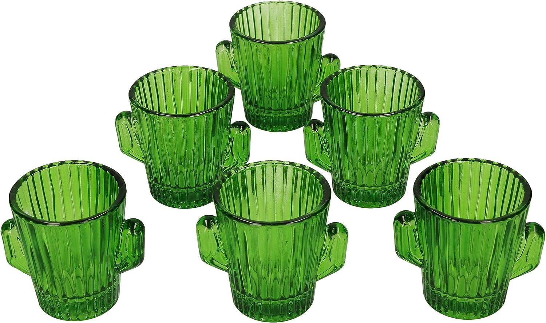 MamboCat - Juego de 6 copas de chupito de 4 cl I verdes I ...