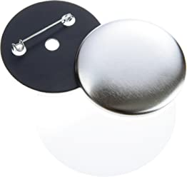 3/Button Blanks 59/mm for Bathroom Gematic Machine with Safety Pin