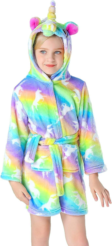 Doctor Unicorn Soft Unicorn Hooded Bathrobe for Girls Gifts