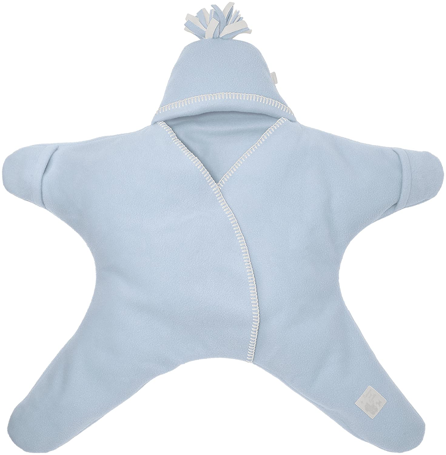 Tuppence and Crumble Star Baby Wrap Baby Blue Size Small
