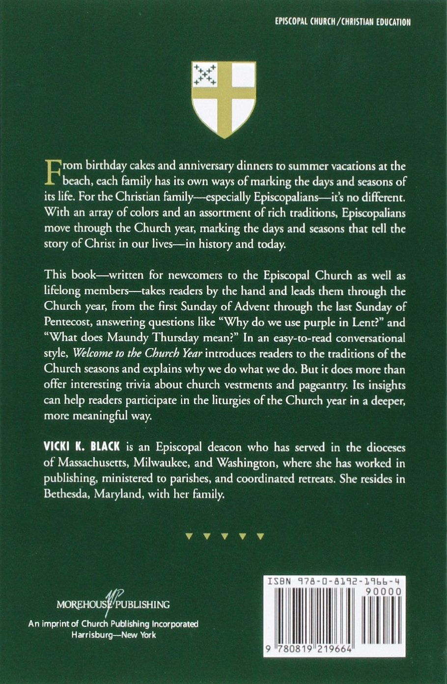 Welcome to the church year an introduction to the seasons of the welcome to the church year an introduction to the seasons of the episcopal church welcome to the episcopal church vicki k black 9780819219664 fandeluxe Gallery