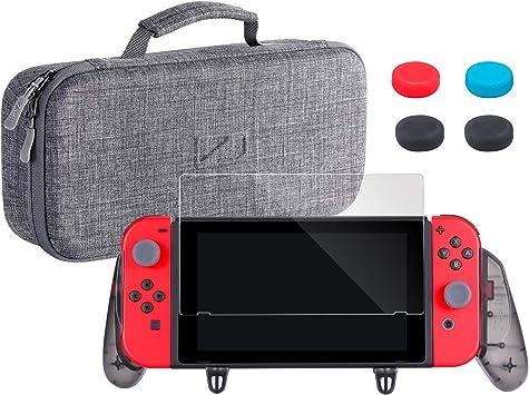 Zadii - Funda ergonómica para Nintendo Switch, Incluye Funda de ...