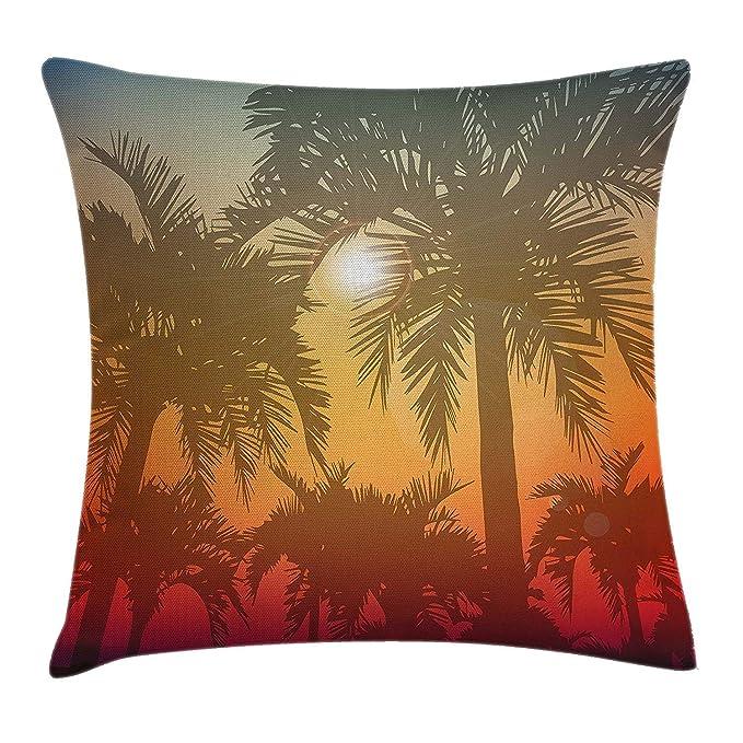 Xukmefat Hawaiian Throw Pillow Cushion CoverLos Angeles Miami ...