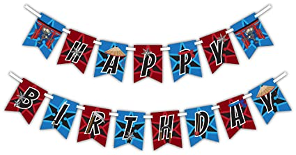 Amazon.com: Ninja Warrior Happy Birthday Party Banner ...