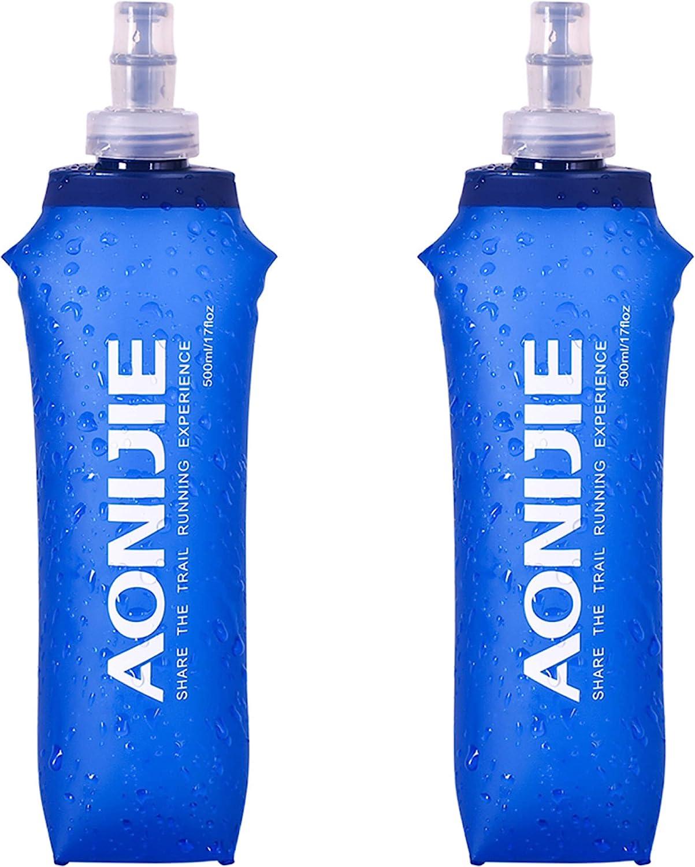 TRIWONDER TPU Botella Soft Flask Bolsa de Hidratación Plegable a Prueba de Fugas Ideal para Mochila de Hidratación para Correr Ciclismo Senderismo