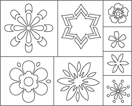 Flower Stencil for Painting Girls Room Wall Mural SKU114-istencil