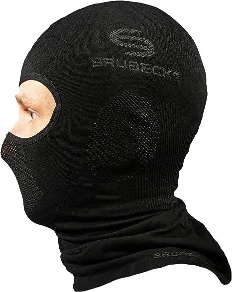 Brubeck Sturmhaube Damen Herren Balaclava Sturmmaske Skimaske Sturmmütze Gesichtshaube Gesichtsmaske Windmaske Motorradmaske Fahrradmaske Sport Freizeit