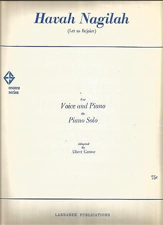 Hava Nagila Sheet Piano/Vocal/Chords: Amazon.co.uk: Musical Instruments