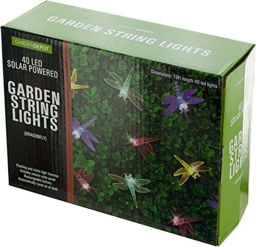 bulk buys OF860 Dragonfly Solar Powered LED String Lights, Transparent Black Yellow Green Blue Red