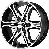 "American Racing AR893 Mainline Black Machined Wheel (17x8""/6x139.7mm, +25mm offset)"
