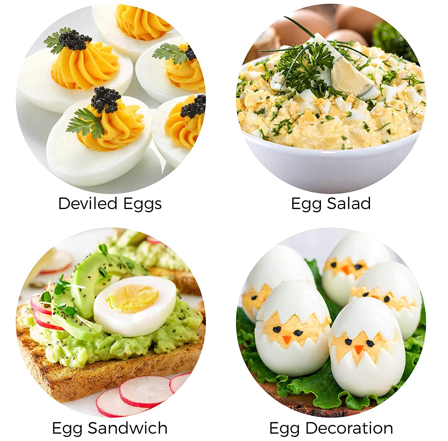 Noise-Free 7 Egg Capacity and Stainless Steel Lid Perfect for Keto Diets Hard Boiled Egg Maker with Auto Shut-Off Mueller Rapid Egg Cooker