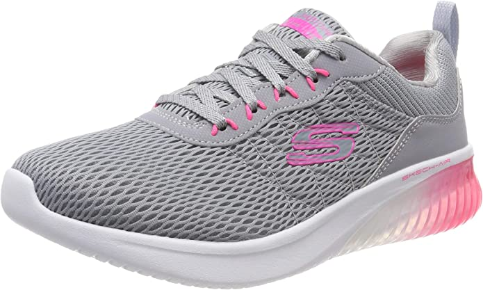 Skechers Skech Air Ultra Flex Sneakers Damen Grau Rosa