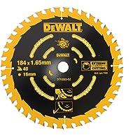 DEWALT Extreme cirkelsågblad DT10303 (för handcirkelsågar utan spaltkil sågblad ø 184/16 mm, skärbredd: 1,65 mm, 40…