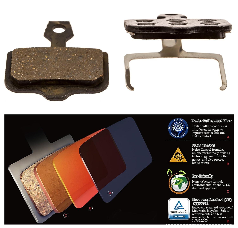 Copper Kevlar Resin Organic Semi-Metallic elixir-pads Smooth Braking Cooma Avid Elixir R Cr Mag 9 7 5 3 1 Xx X0 World Cup Replacement Brake Pads Provide Noise Control Long Life
