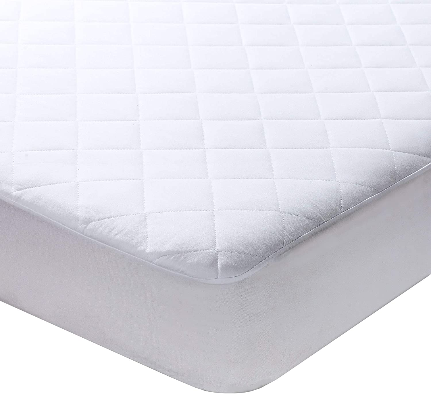 10 X DOUBLE HOTEL QUALITY WHITE DEEP FITTED ANTI ALLERGENIC MATTRESS PROTECTOR