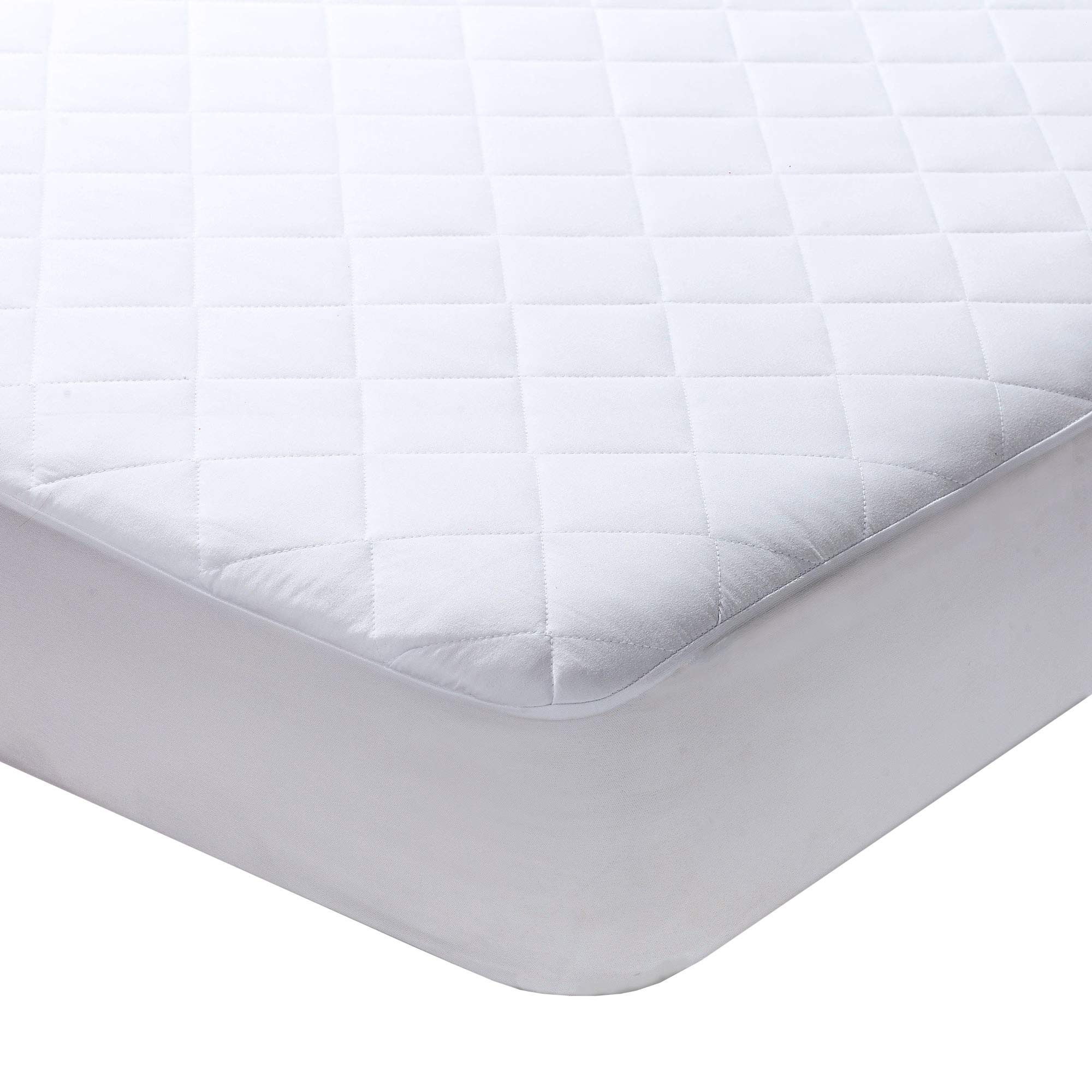 Milddreams Full Mattress Pad Cover Protector - Bed Pad Size (54x75 inches + 16'' Deep Pocket) - Quilted Fitted Sheet Hypoallergenic Protection