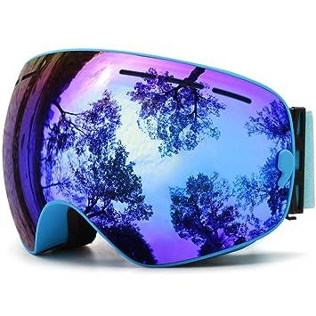 c35a4ecd09673 Skibrille Snowboardbrille Doppel Schicht Antifog Spherische UV Schutz Mit  Abnehmbarem Objektiv Für Brillenträger Damen Herren JULI