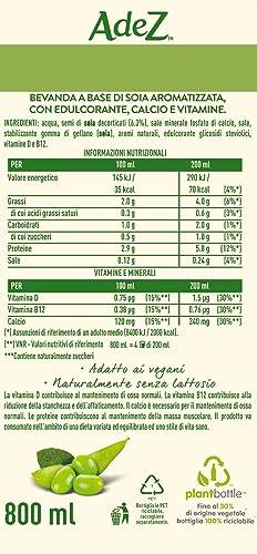 AdeS - Soja Maravillosa con vitaminas D y B12., Bebida Vegetal, 800 ml, Botella de plástico: Amazon.es: Alimentación y bebidas