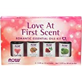 NOW Essential Oils, Love at First Scent Aromatherapy Kit, 4x10ml Including Bergamot, Cinnamon Cassia, Rose Absolute and…