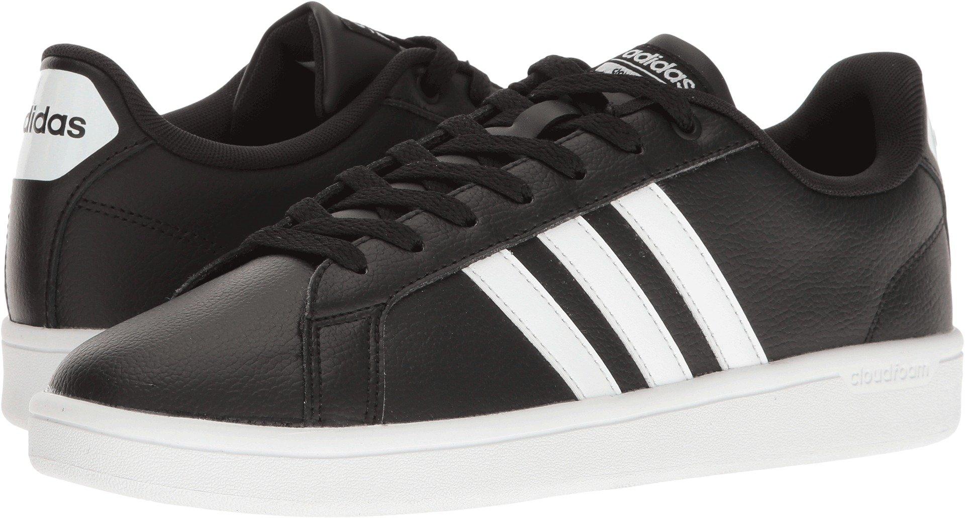 adidas Women's Shoes | Cloudfoam Advantage Sneakers White/Black, (6 M US)