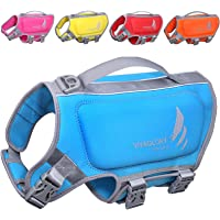 VIVAGLORY Small Dog Life Vest, Skin-Friendly Neoprene Life Jacket for Dogs with Superior Buoyancy and Rescue Handle…