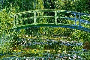 Claude Monet Water Lilies and Japanese Bridge Cool Wall Decor Art Print Poster 36x24