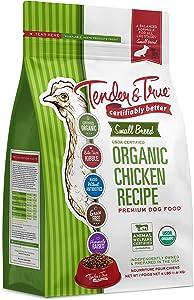 Tender & True Pet Nutrition Small Breed Organic Chicken Recipe Dog Food, 4 lb (43006)