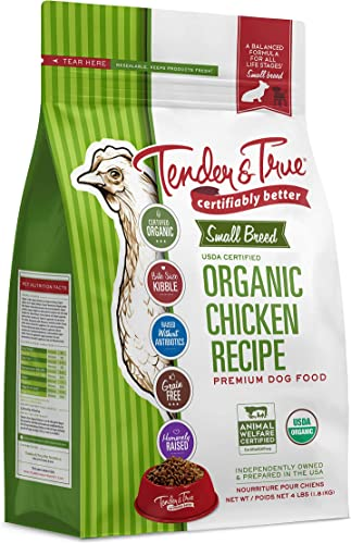 Tender True Pet Nutrition Small Breed Organic Chicken Recipe Dog Food, 4 lb 43006