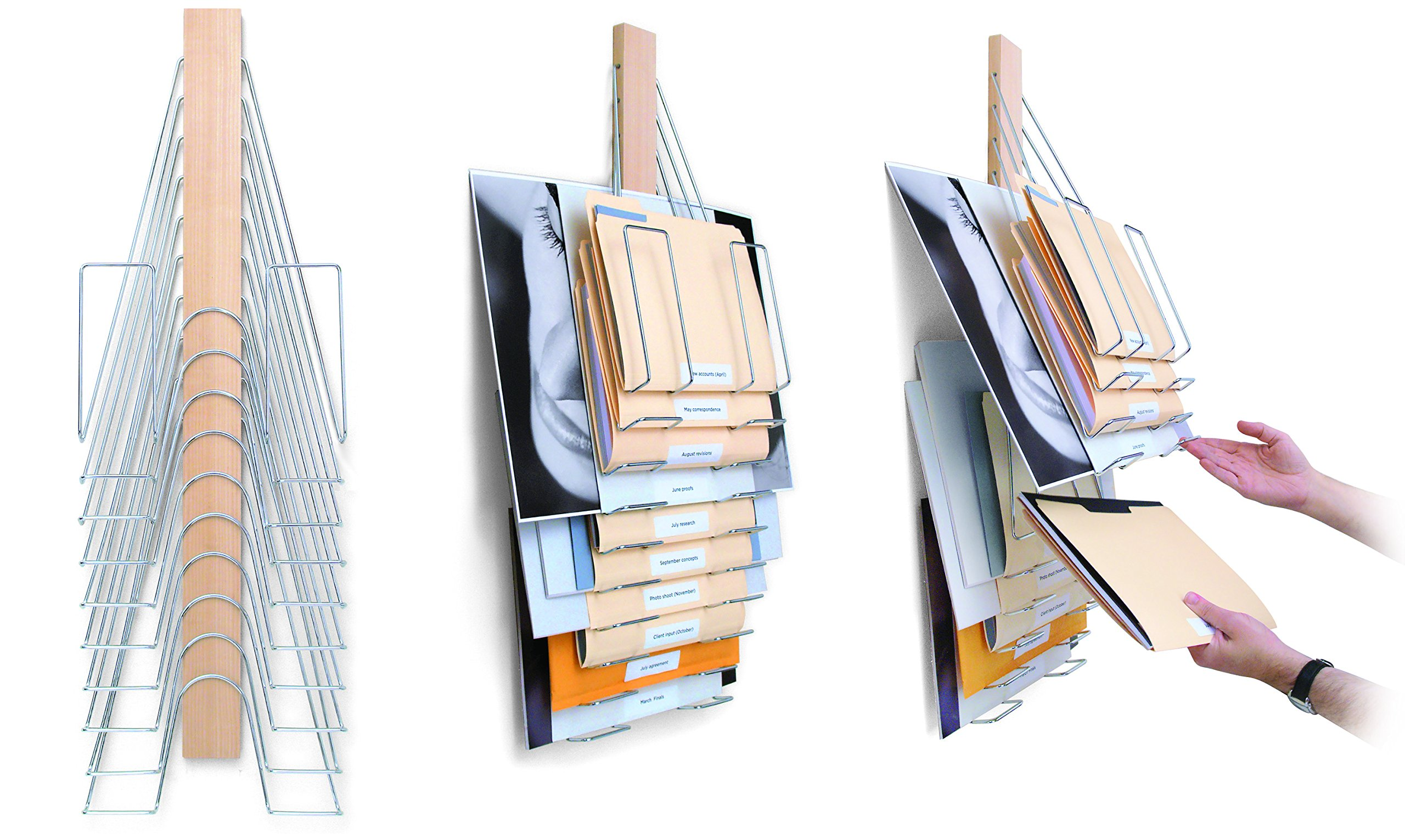 Up Filer Original, Hanging Wall File, 10 Hangers/Pockets. Allows for Letter/Legal/Oversized