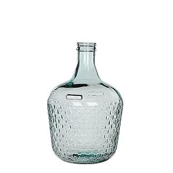 MICA Decorations 241794 Diego Weave Botella de Cristal/ - Jarrón, Cristal, Vidrio, Transparente, H 42 cm D 27 cm: Amazon.es: Hogar